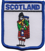 Scotland Piper Bagpipe Player Embroidered Patch (a102)